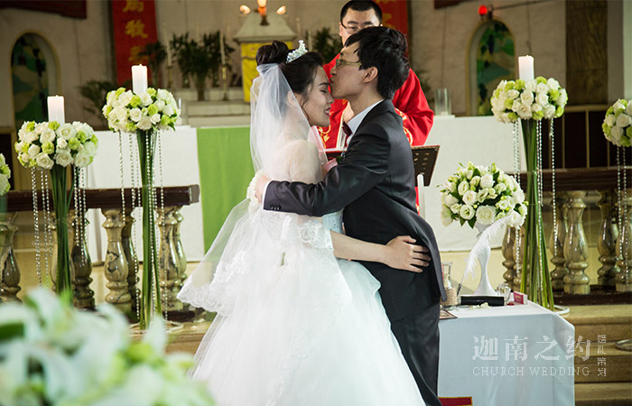 太原教堂婚礼_白绿系