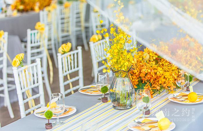太原金黄色清新主题婚礼设计案例